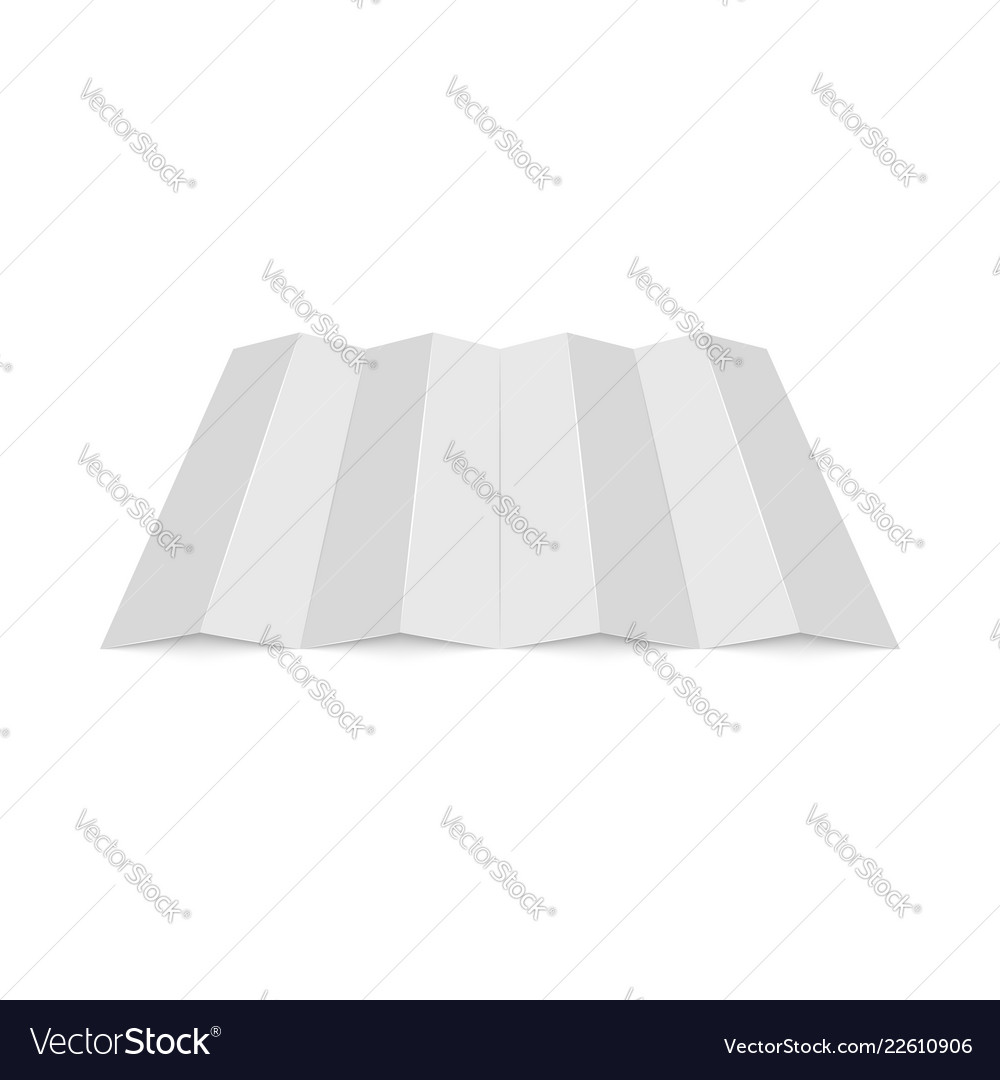 Empty mockup white folded paper sheet perspective