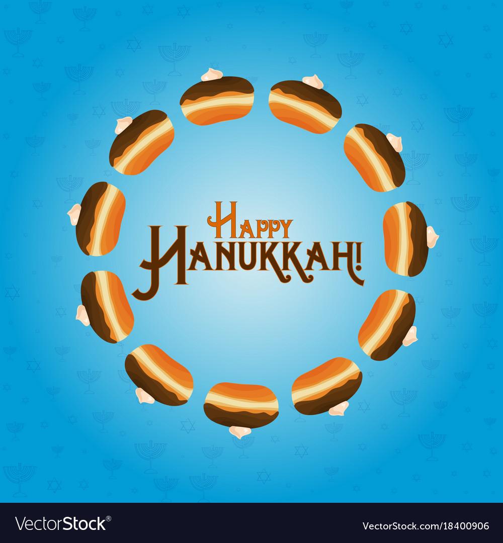 Jewish holiday of hanukkah greeting card