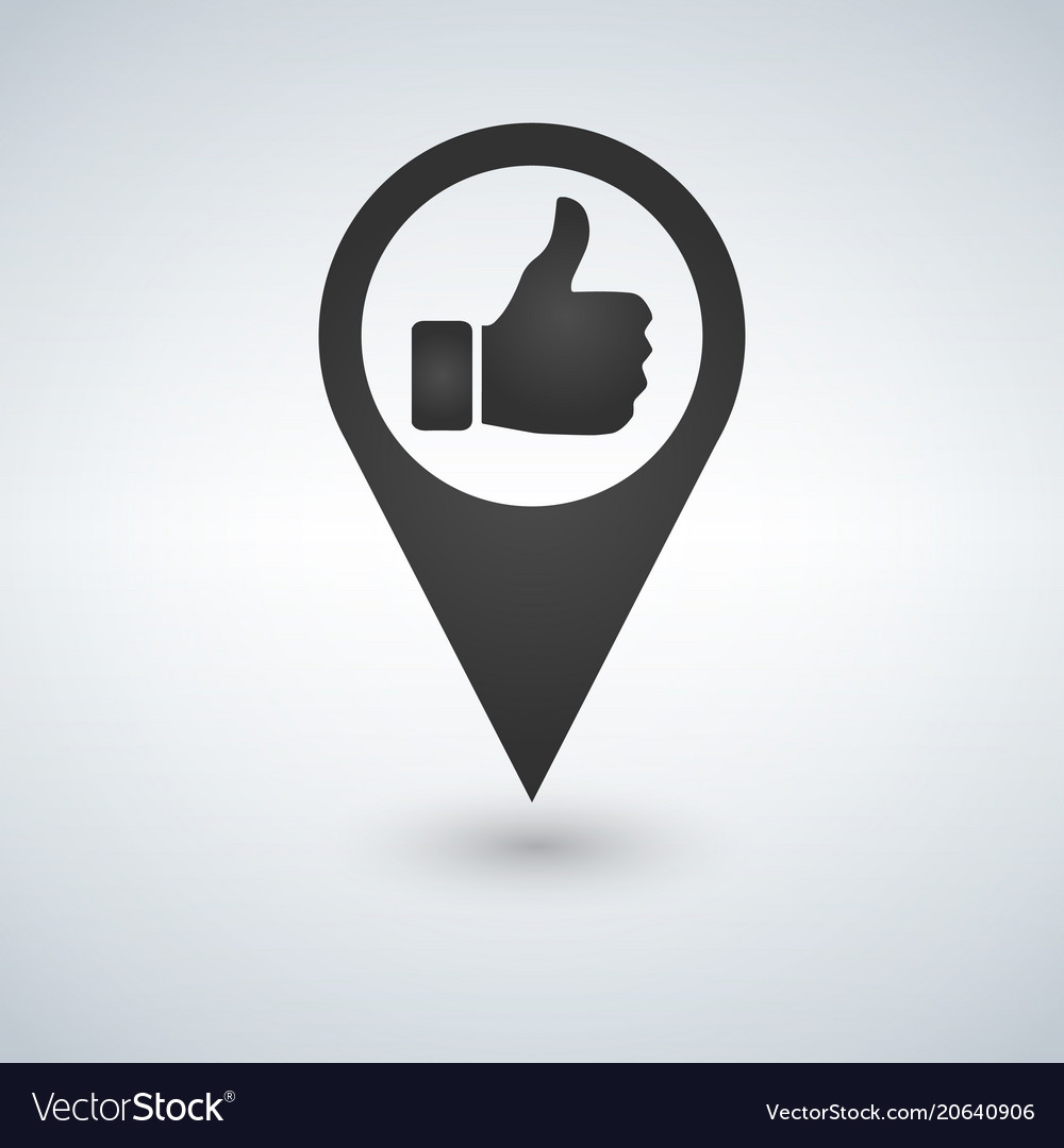 Map icon like icon sign