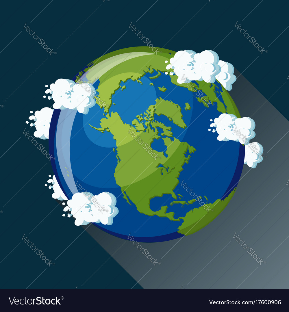 North america map on planet earth view from space vector image gumiabroncs Images
