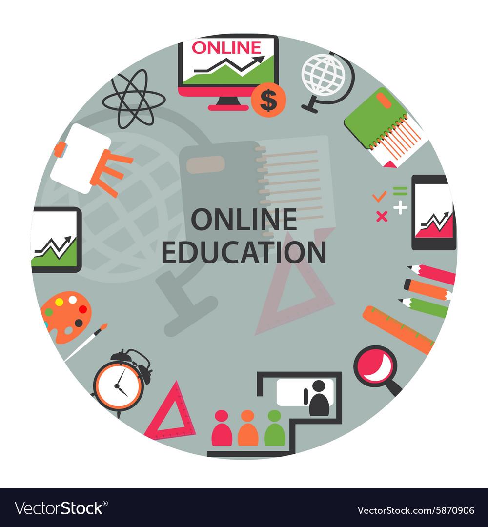 Online education emblem
