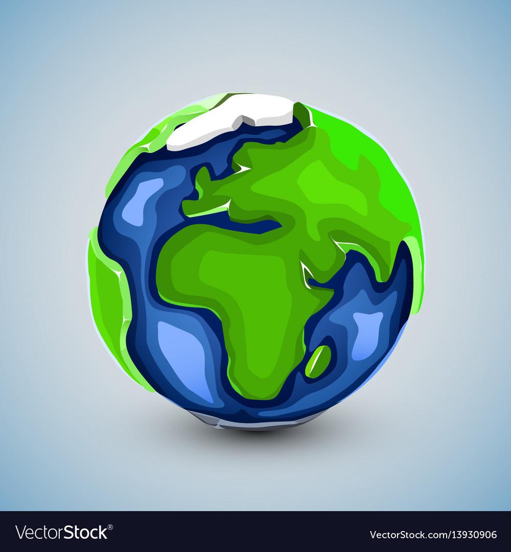 Realistic beautiful planet earth globe