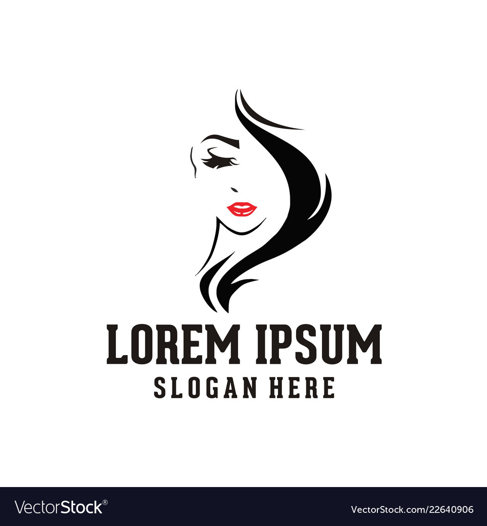 Woman Face Beauty Logo Royalty Free Vector Image