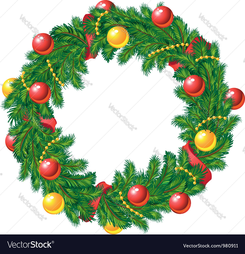 Christmas Wreath Vector.Christmas Wreath