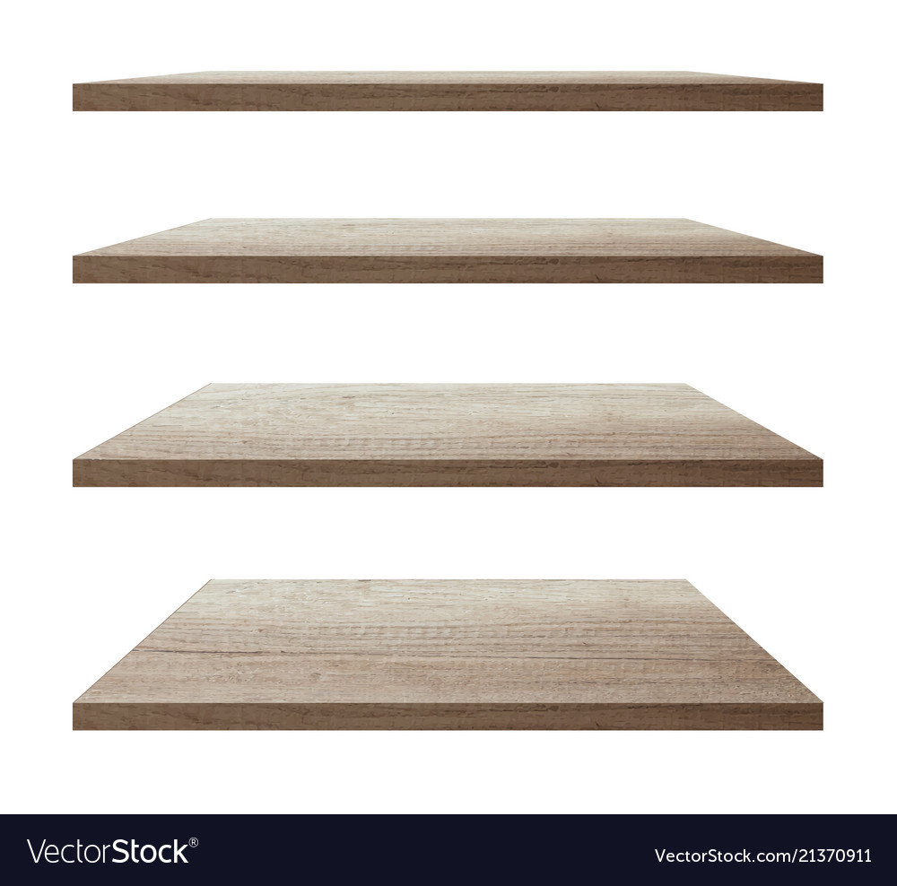 Collection of wood shelf table