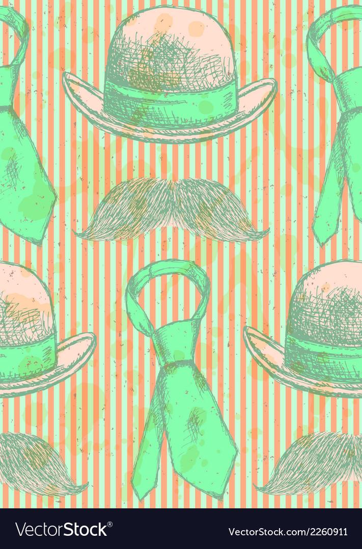 Hat Tie Mustache