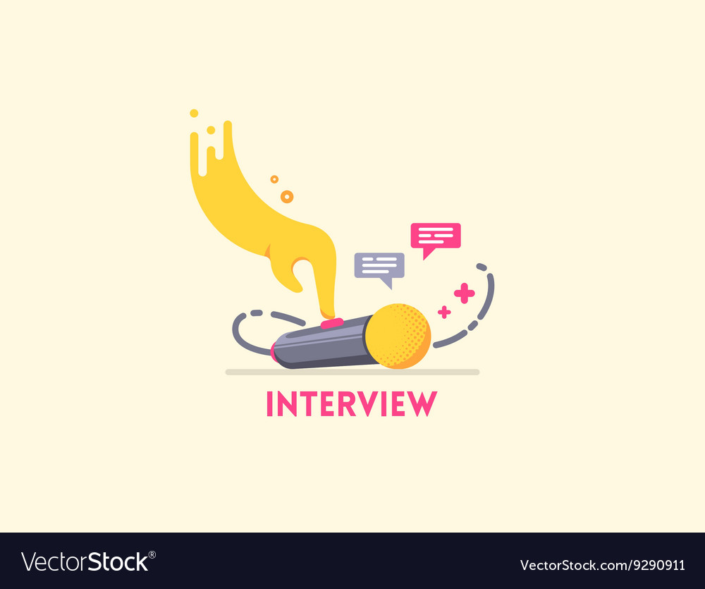Microphone interview icon vector image