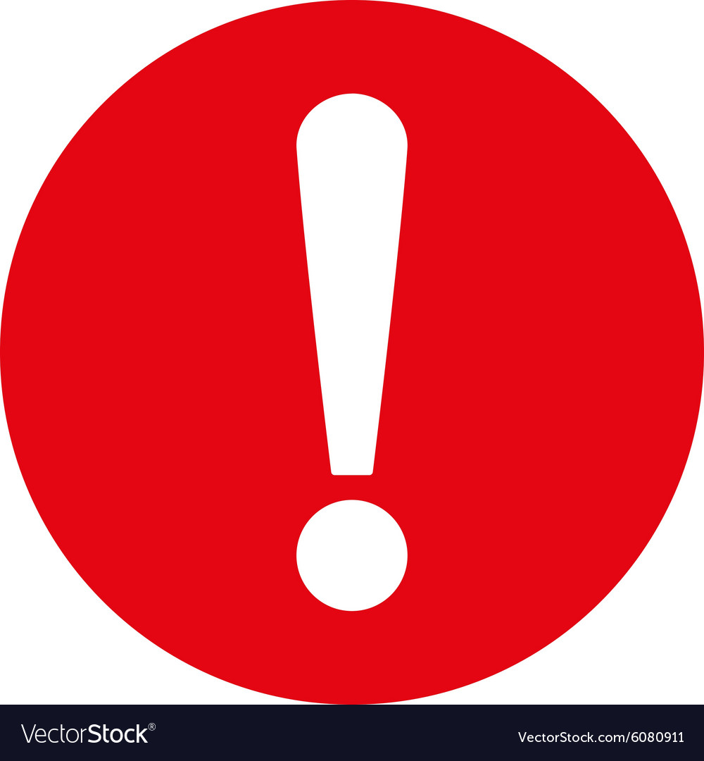 Problem Flat Red Color Icon Royalty Free Vector Image