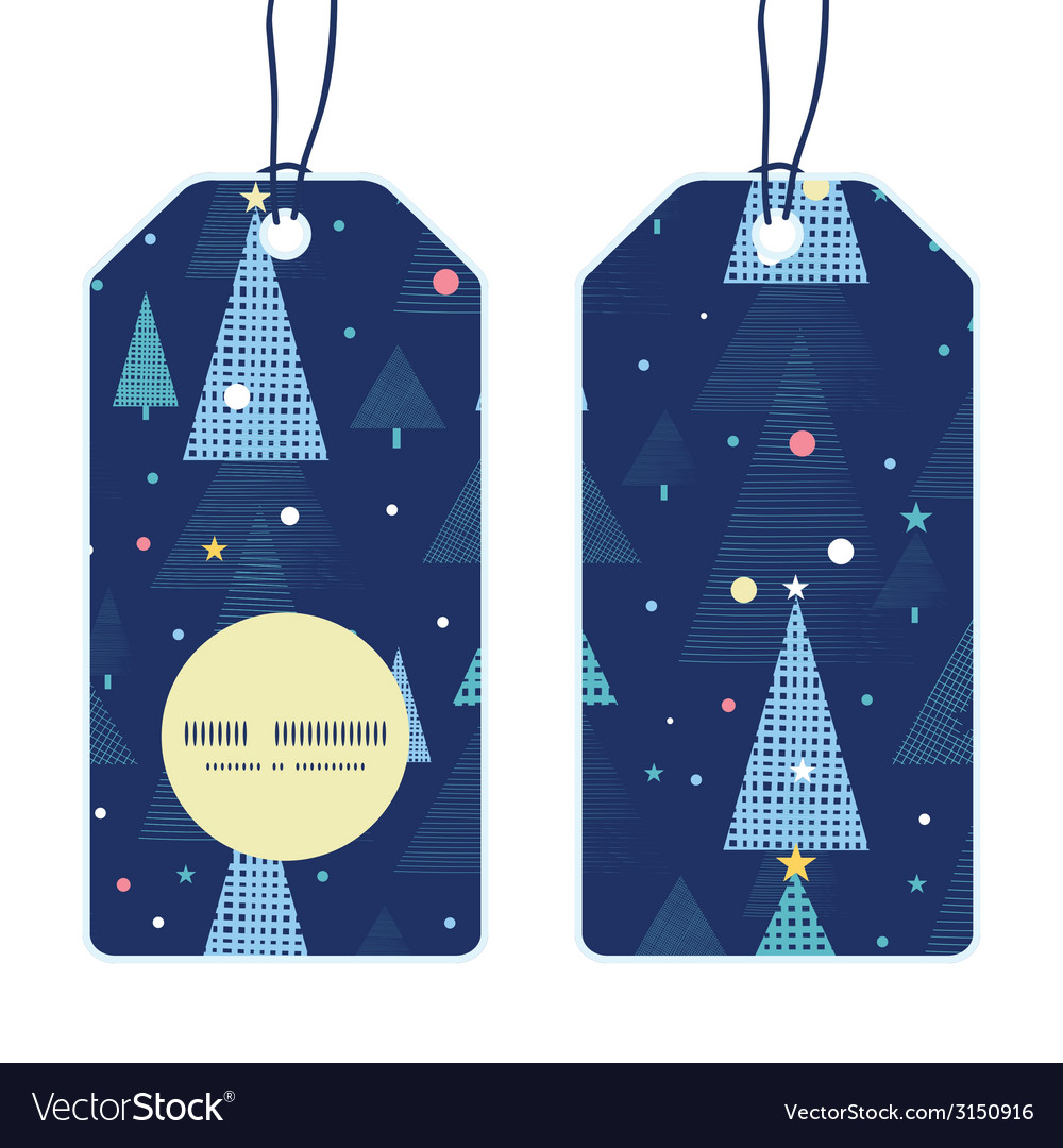 Abstract holiday christmas trees vertical round
