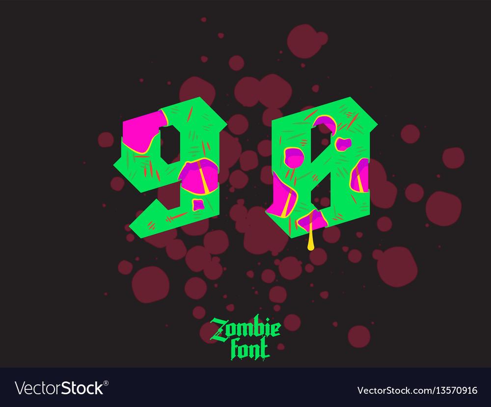 Acid zombie gothic font