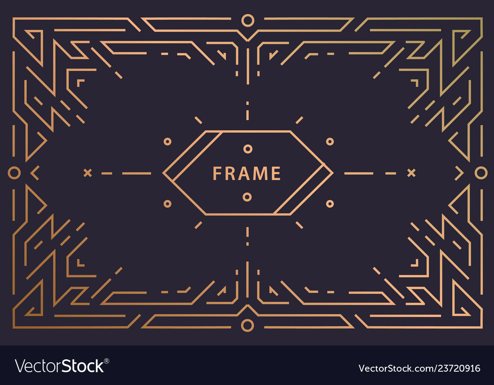 Art deco linear frame with space for text