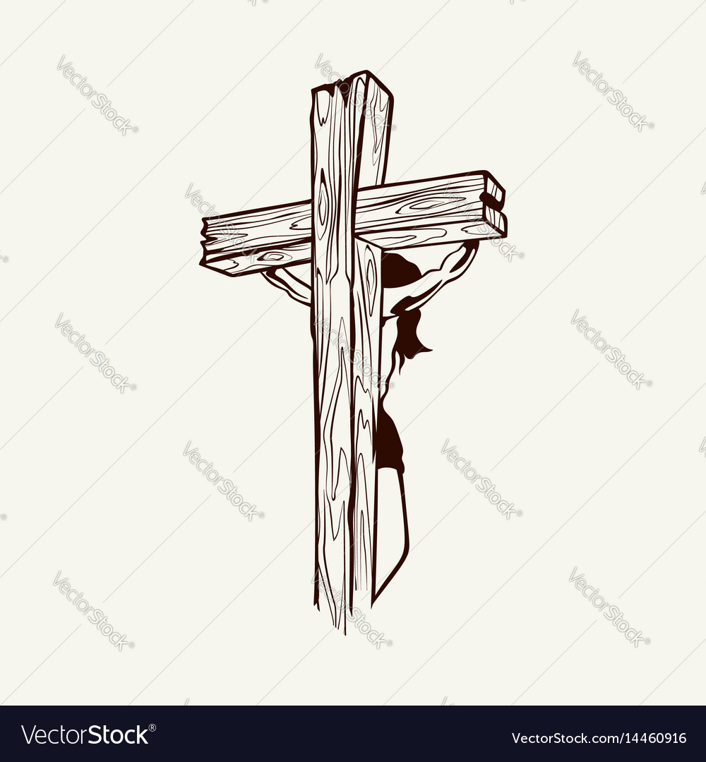 Crucified jesus christ on the cross