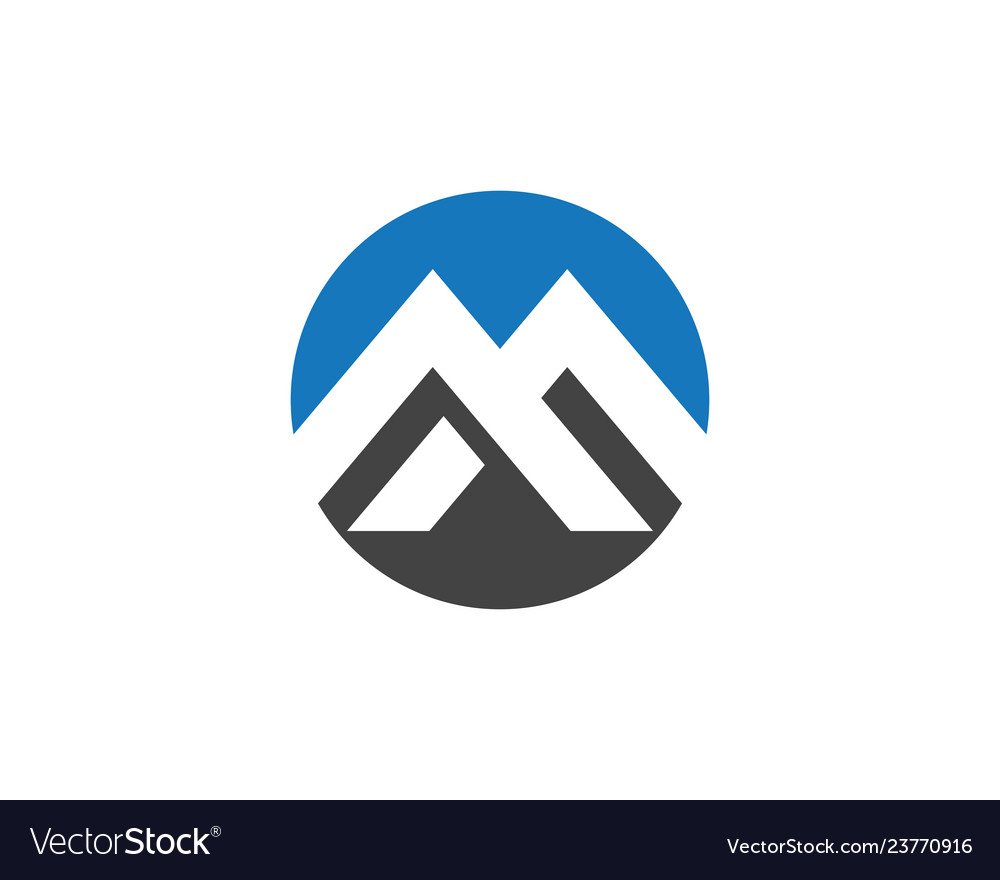M letter business corporate abstract