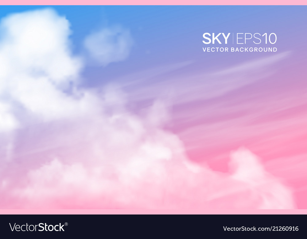 Realistic pink-blue sky