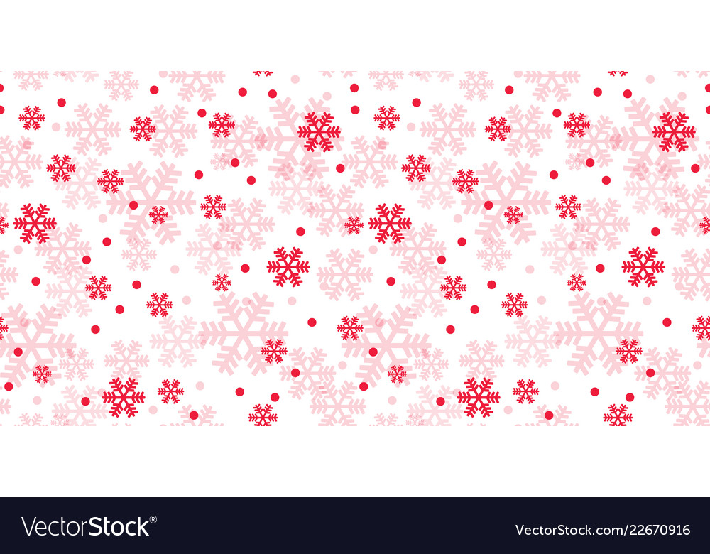White and red christmas snowflakes repeat pattern