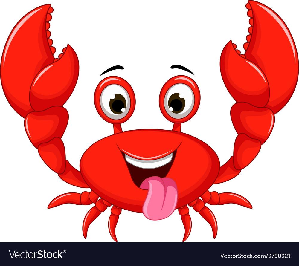 funny cartoon crab royalty free vector image vectorstock rh vectorstock com crab vector free download crab vector art free