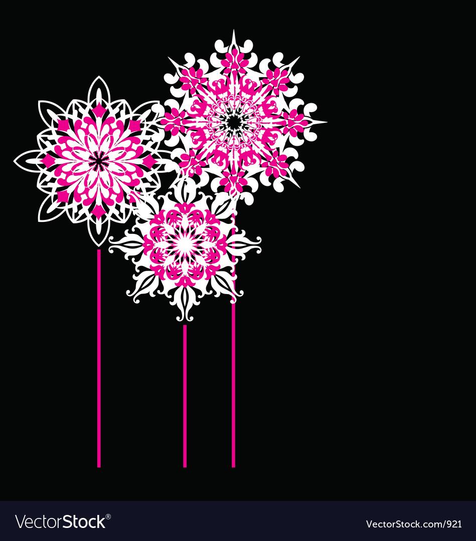 Ornate flowers vector image