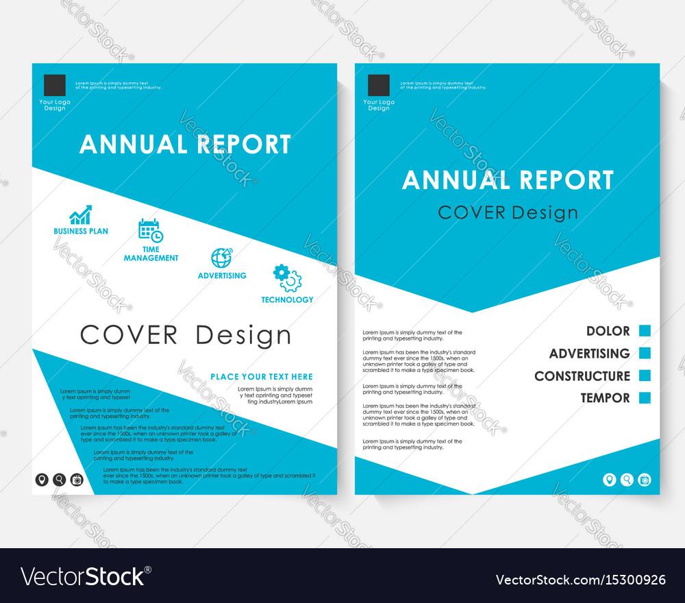 Blue cover design template brochure