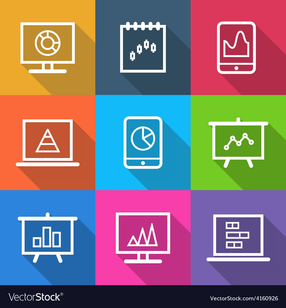 Business Infographic Charts Icons vector image
