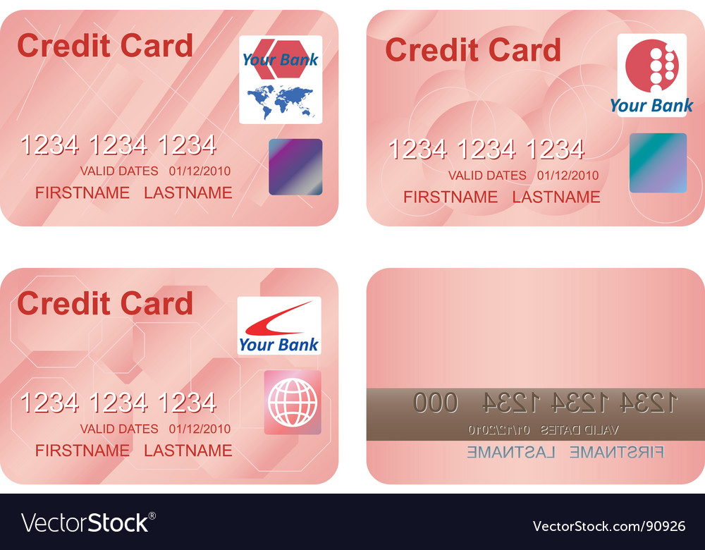credit card logos eps. Design Of A Credit Card Vector