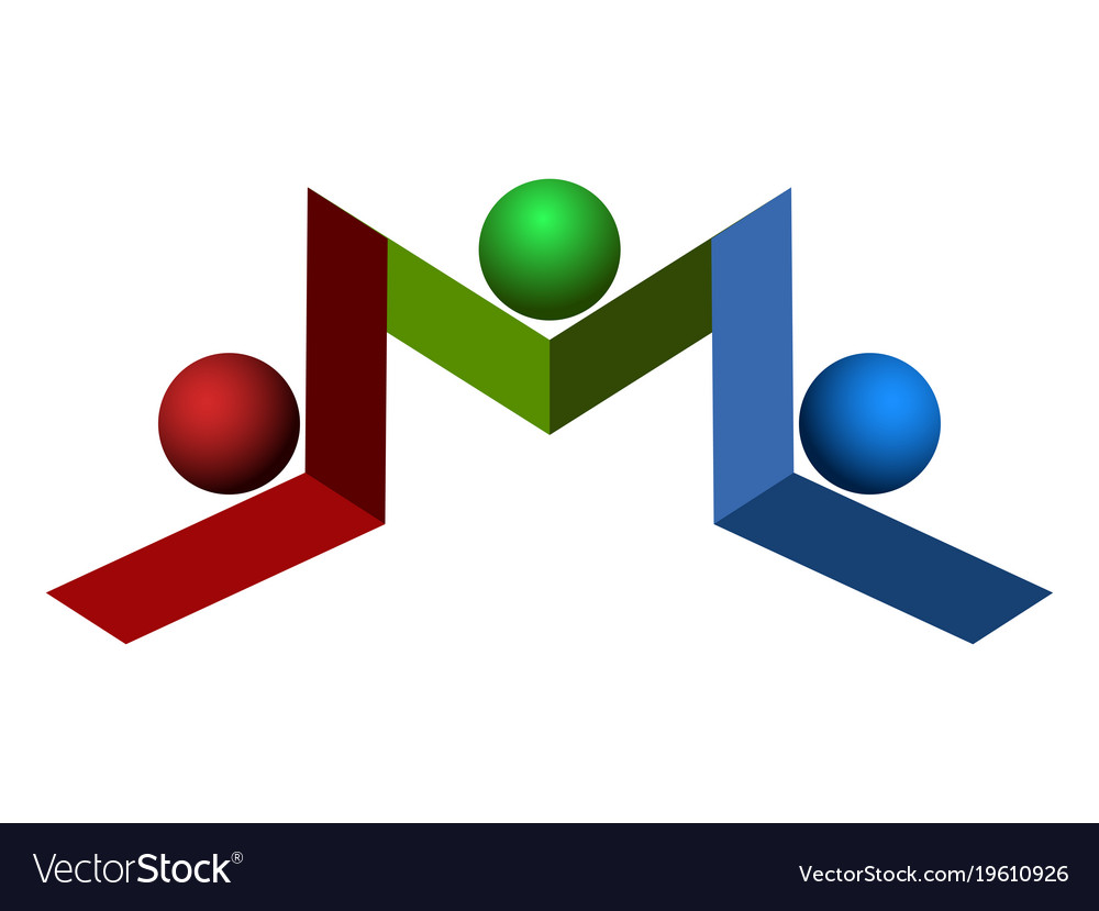 Isolated teamwork logo