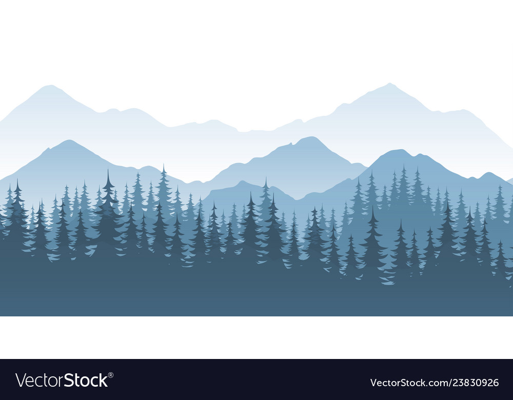 Mountain forest - landscape