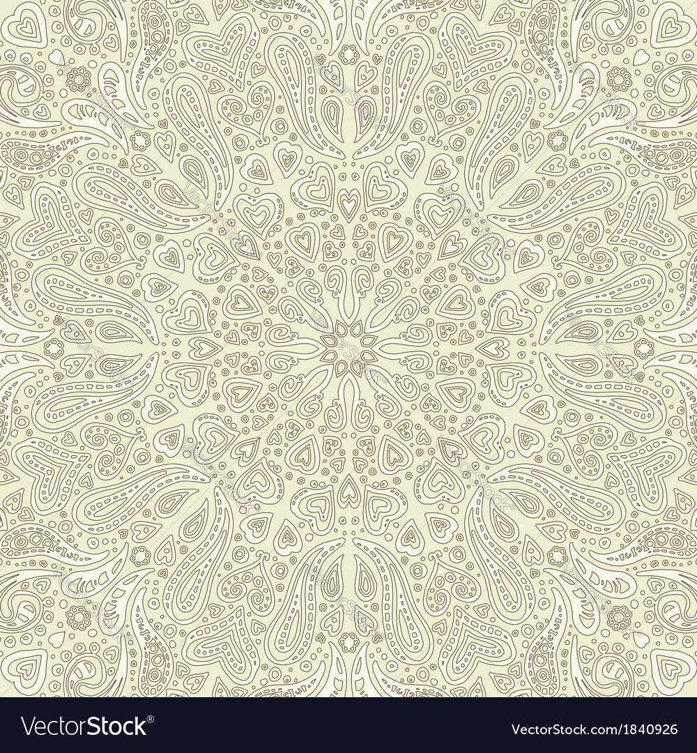 Paisley cream background vector image
