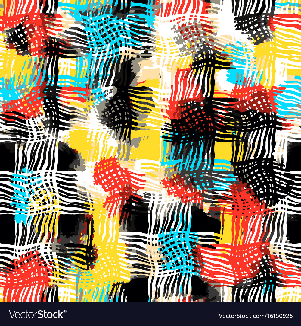 Shabby grunge textiles seamless pattern vector image