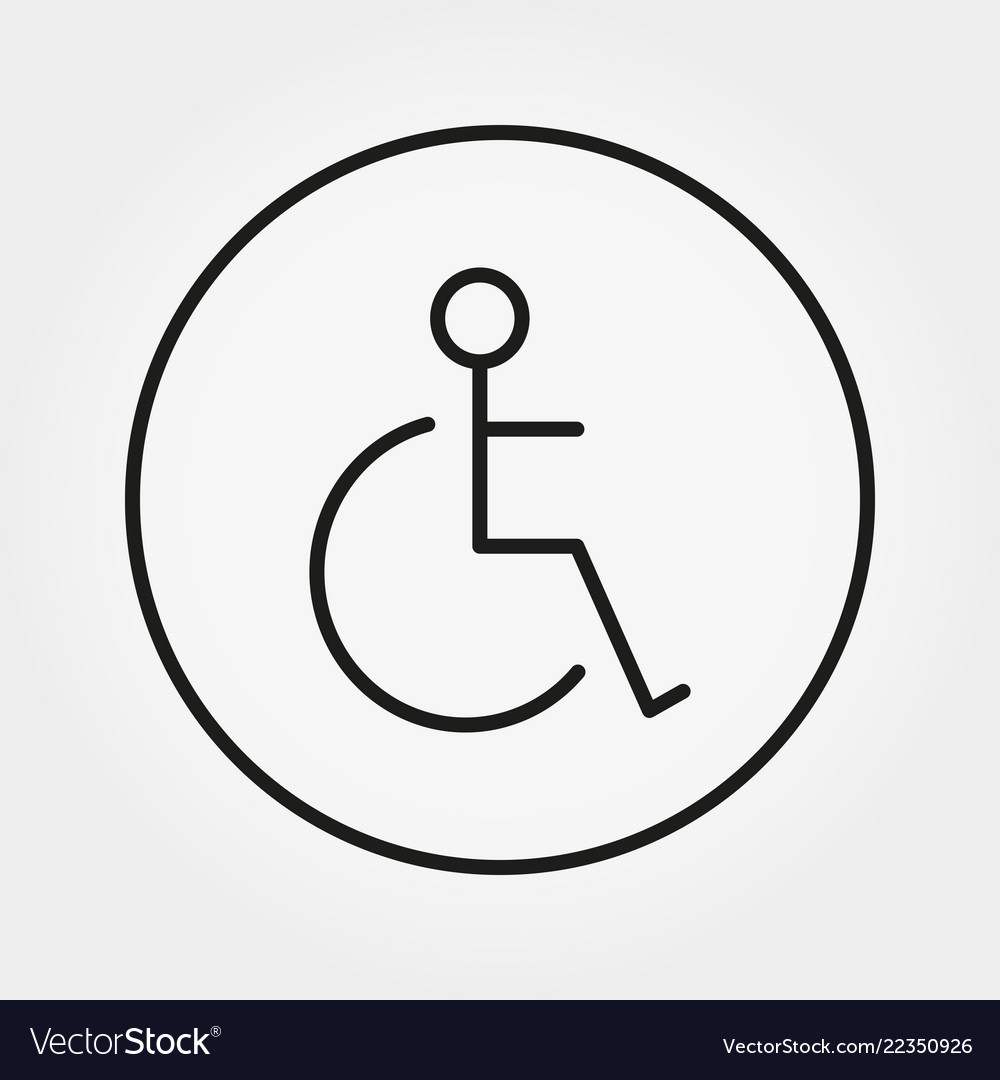 Wheelchair disabled person icon human on