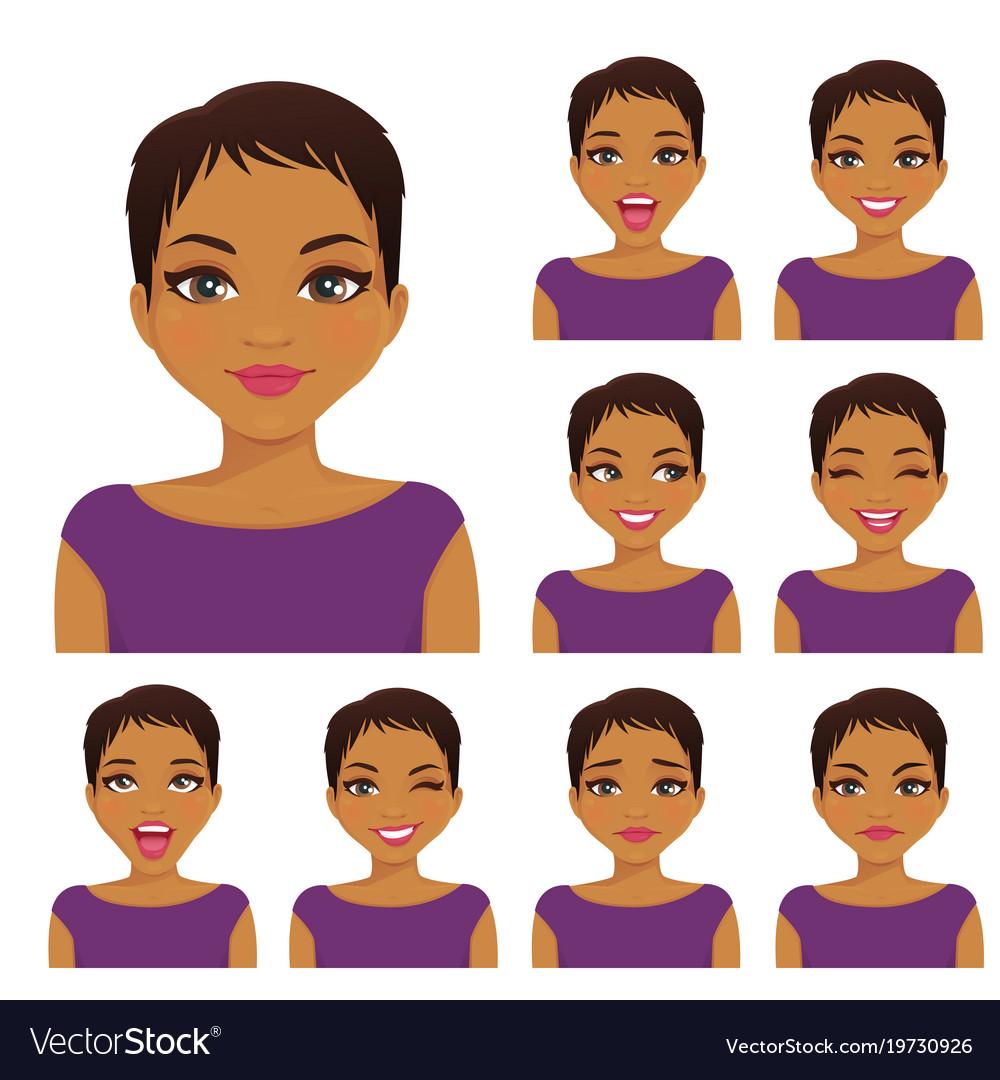 Woman emotion set