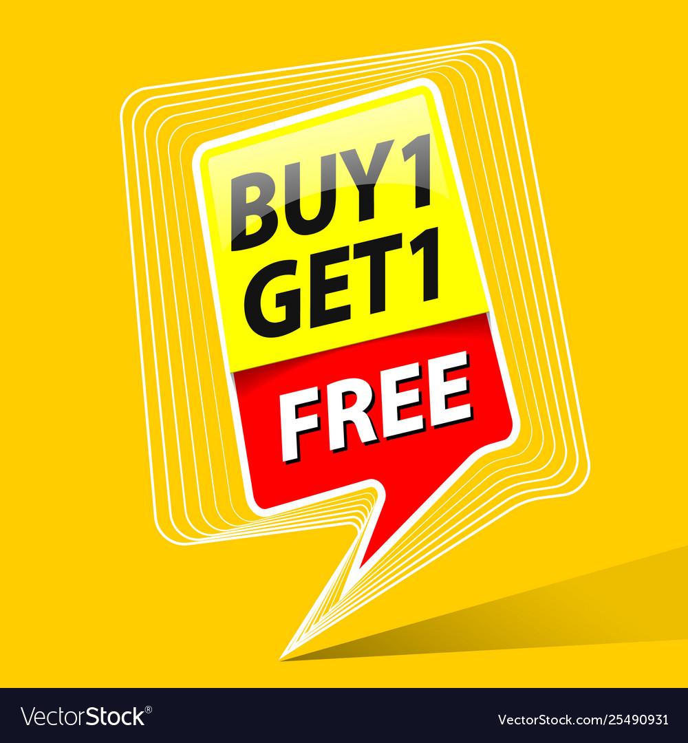 Buy one get free sale promo theme