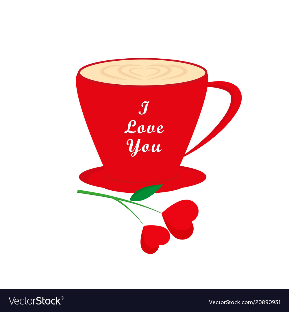 Coffee cup valentines day