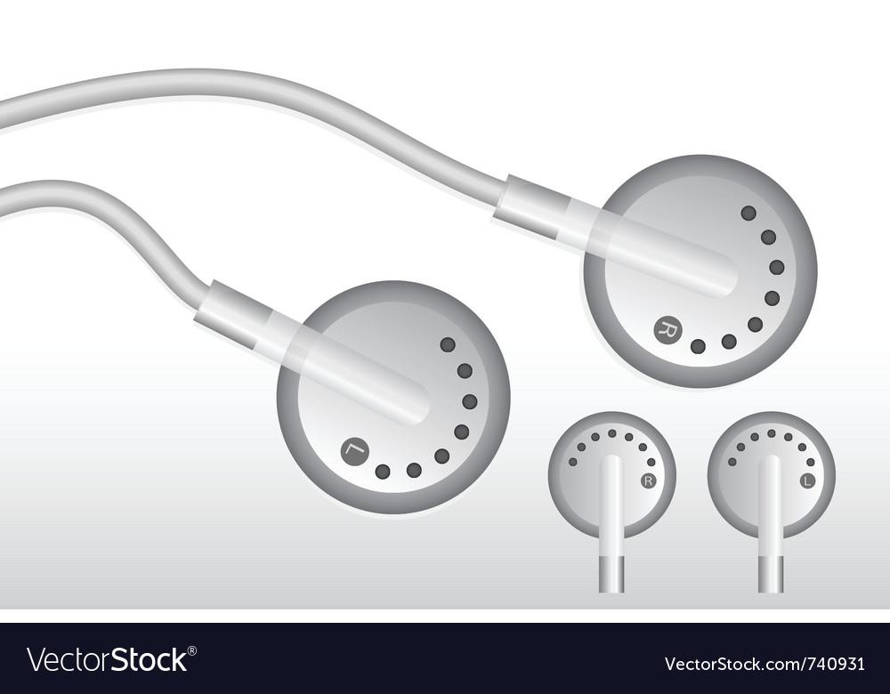 Earphones design vector image