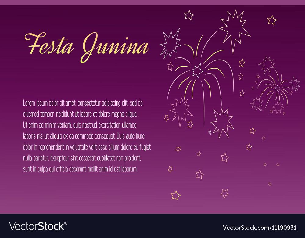 Festa Junina elements vector image