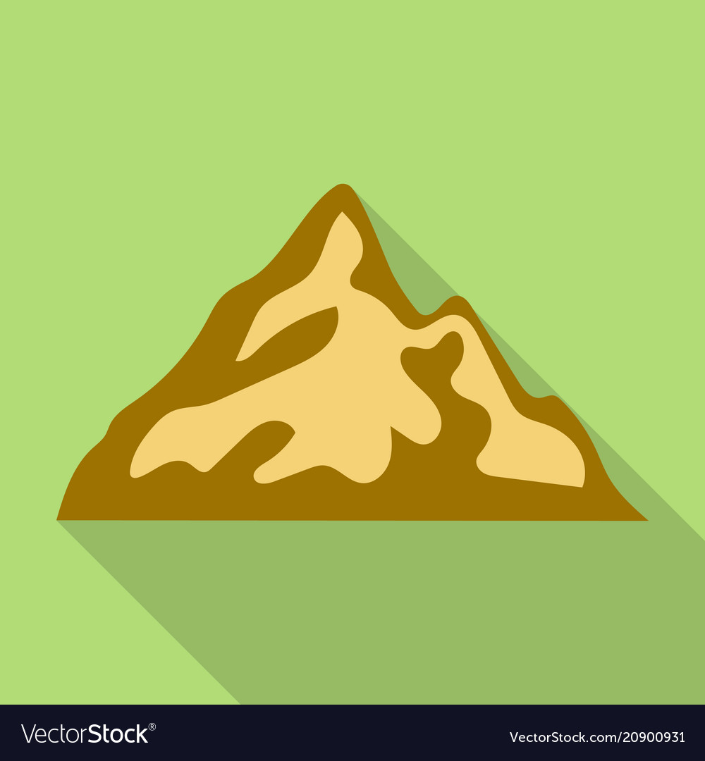 Mountain with shadow icon flat style