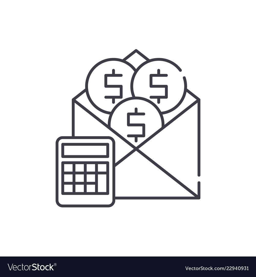 Salary line icon concept salary linear