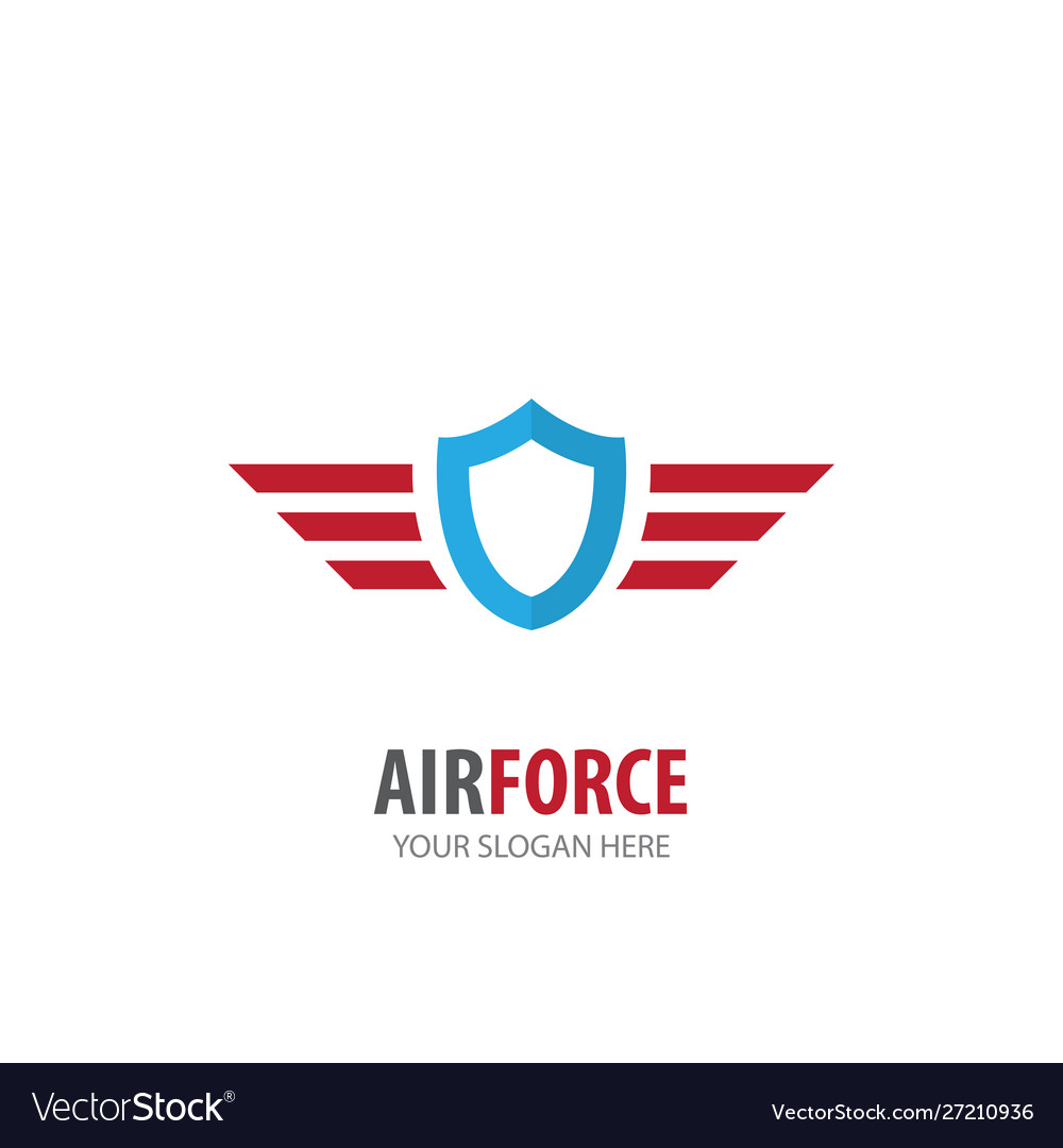 Air force logo for business company simple air
