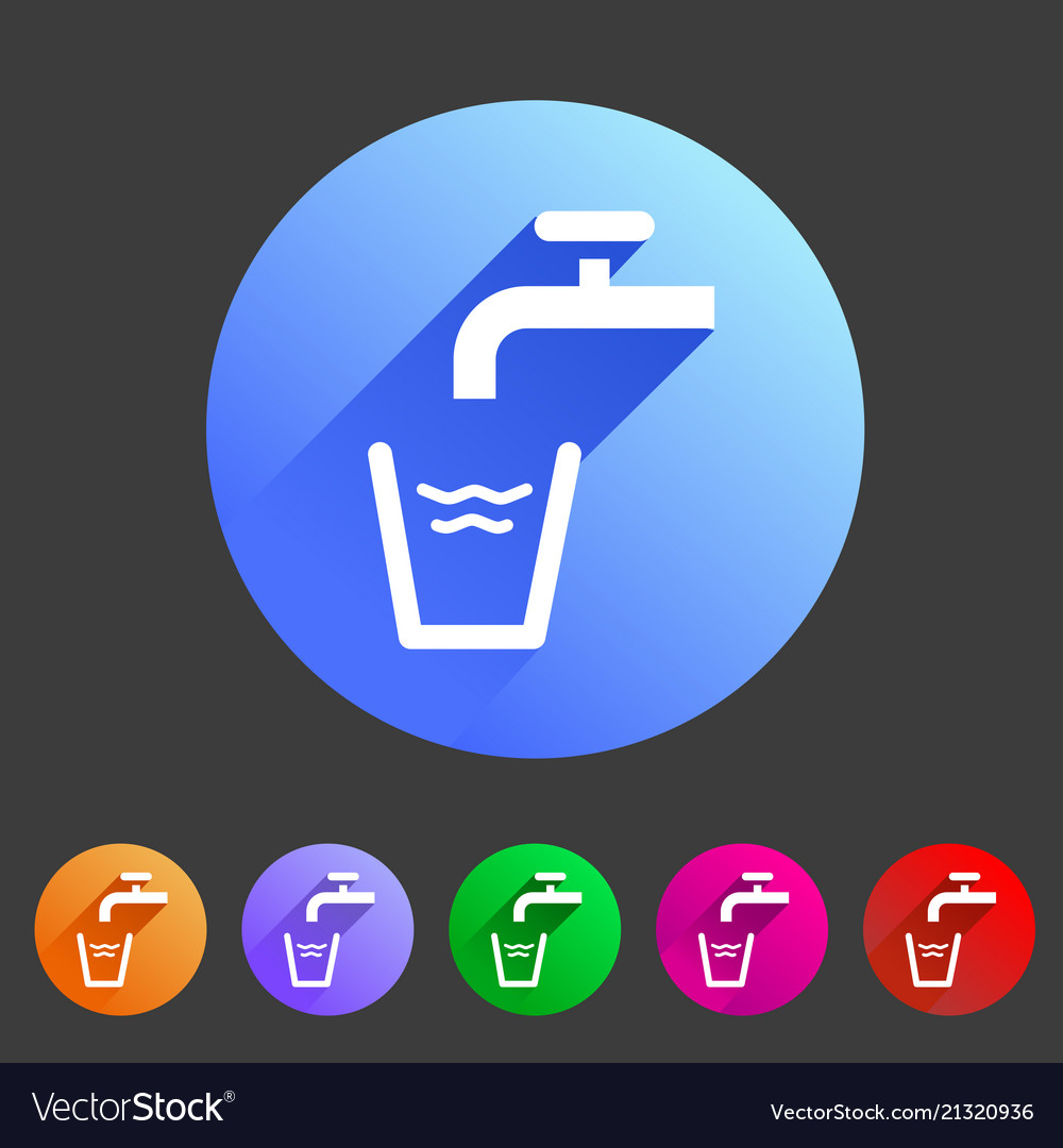 Drinking water point tap icon flat web sign symbol