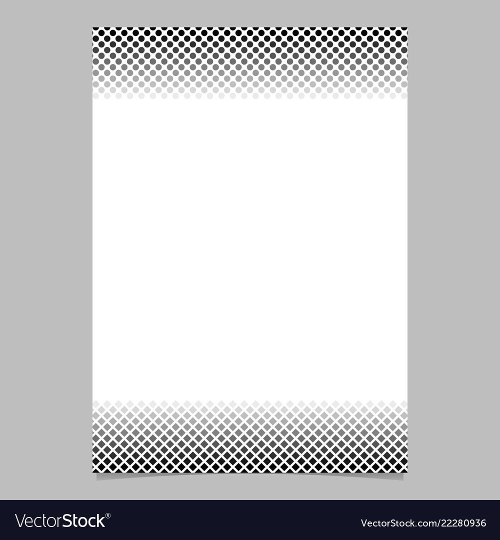 Monochrome halftone pattern brochure design