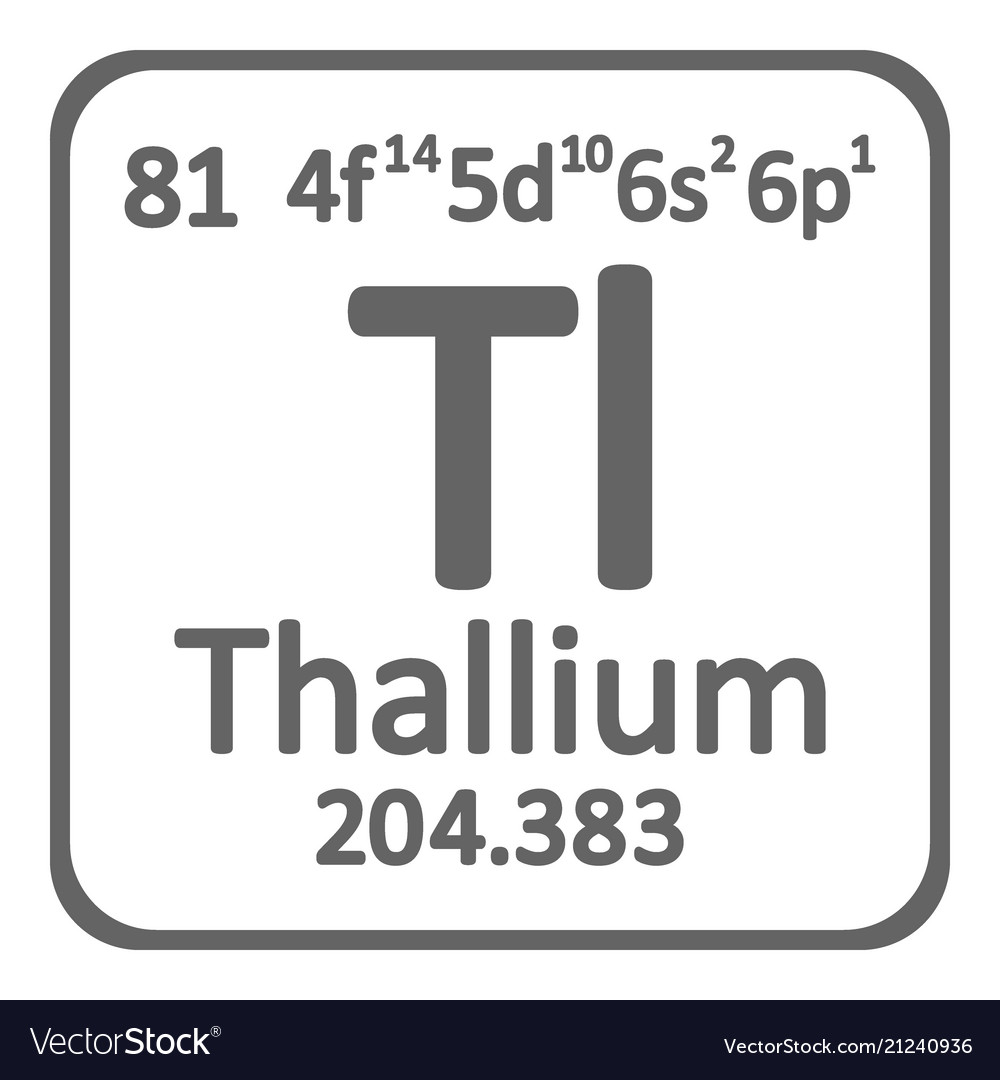 Periodic table element thallium icon royalty free vector periodic table element thallium icon vector image urtaz Choice Image