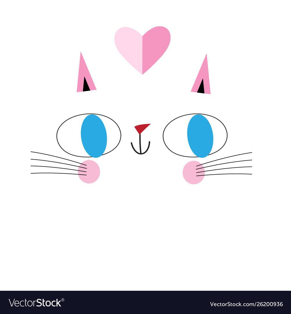 Portrait funny cat in love