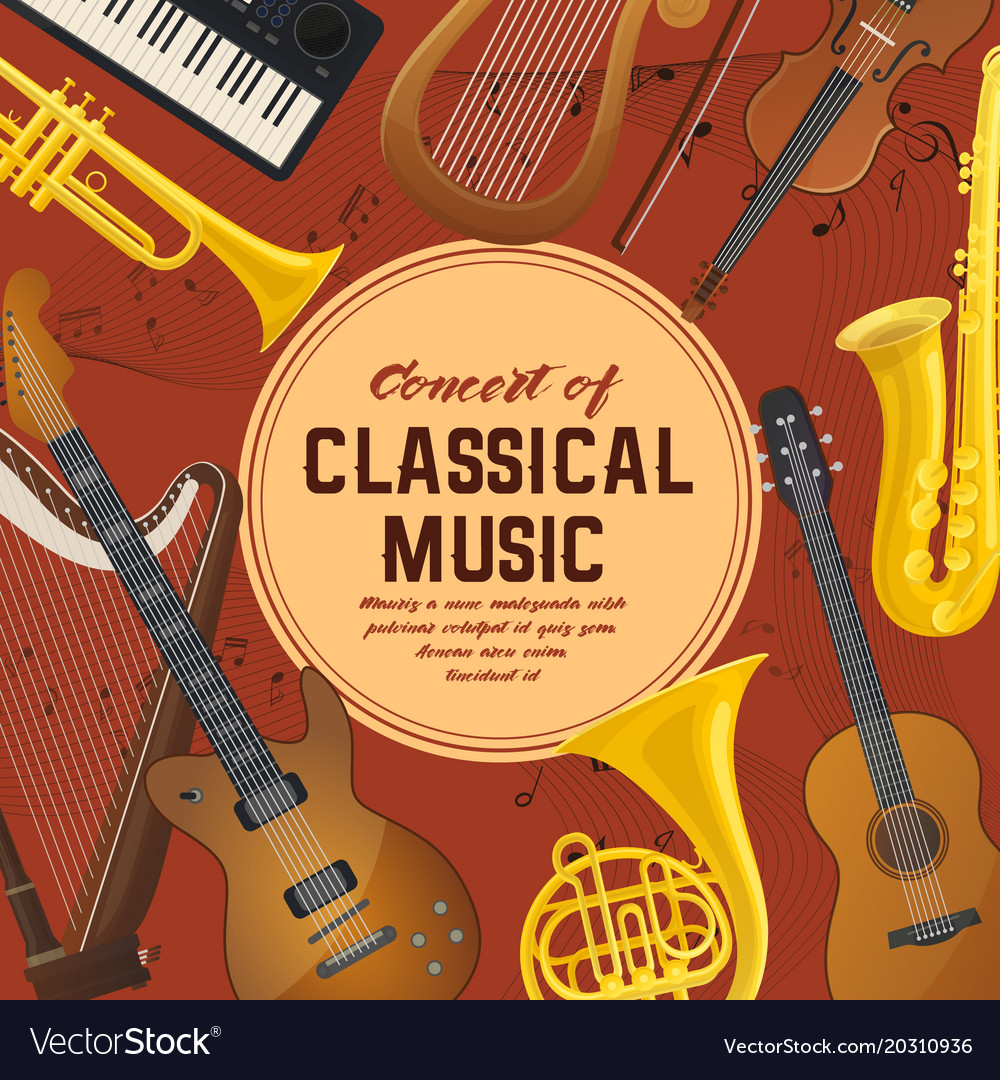 Poster for classical music instruments sound