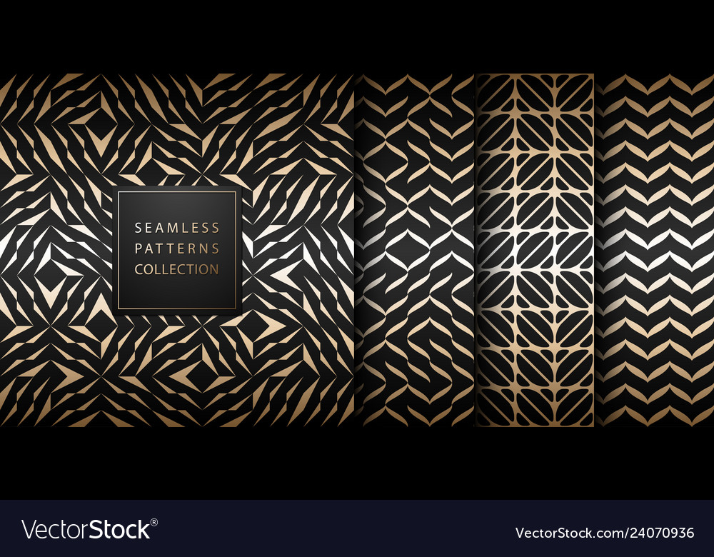 Seamless geometric golden element pattern