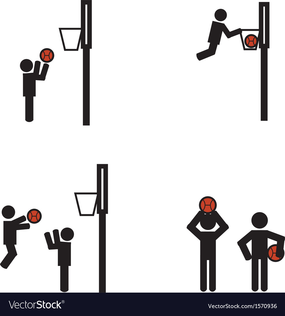 Stick man basketball