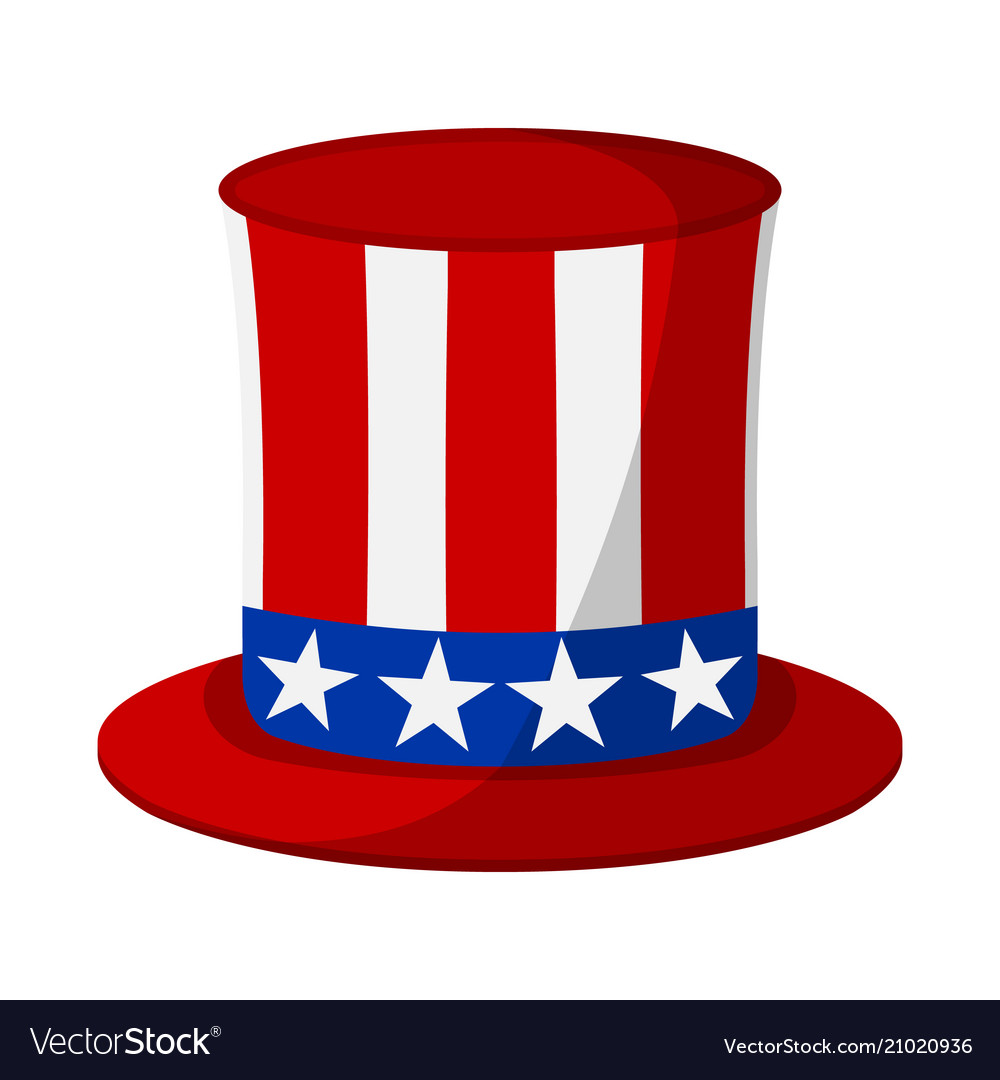 Uncle sam hat icon happy 4 th july and