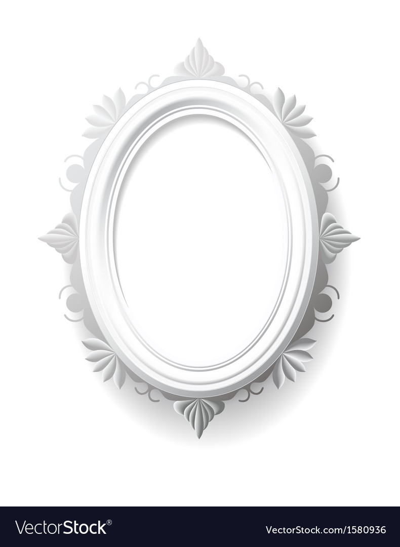 Vintage oval frame Royalty Free Vector Image - VectorStock