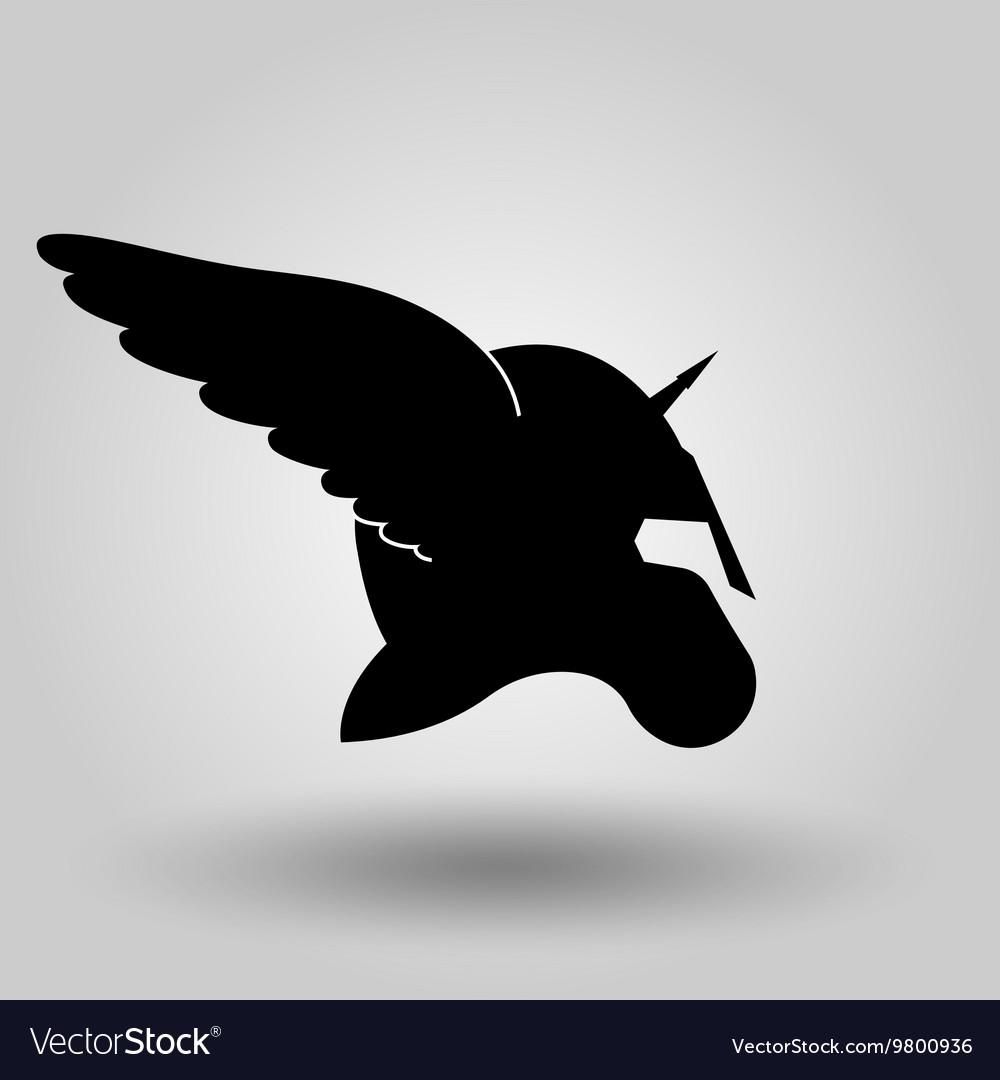 Winged helmet silhouette