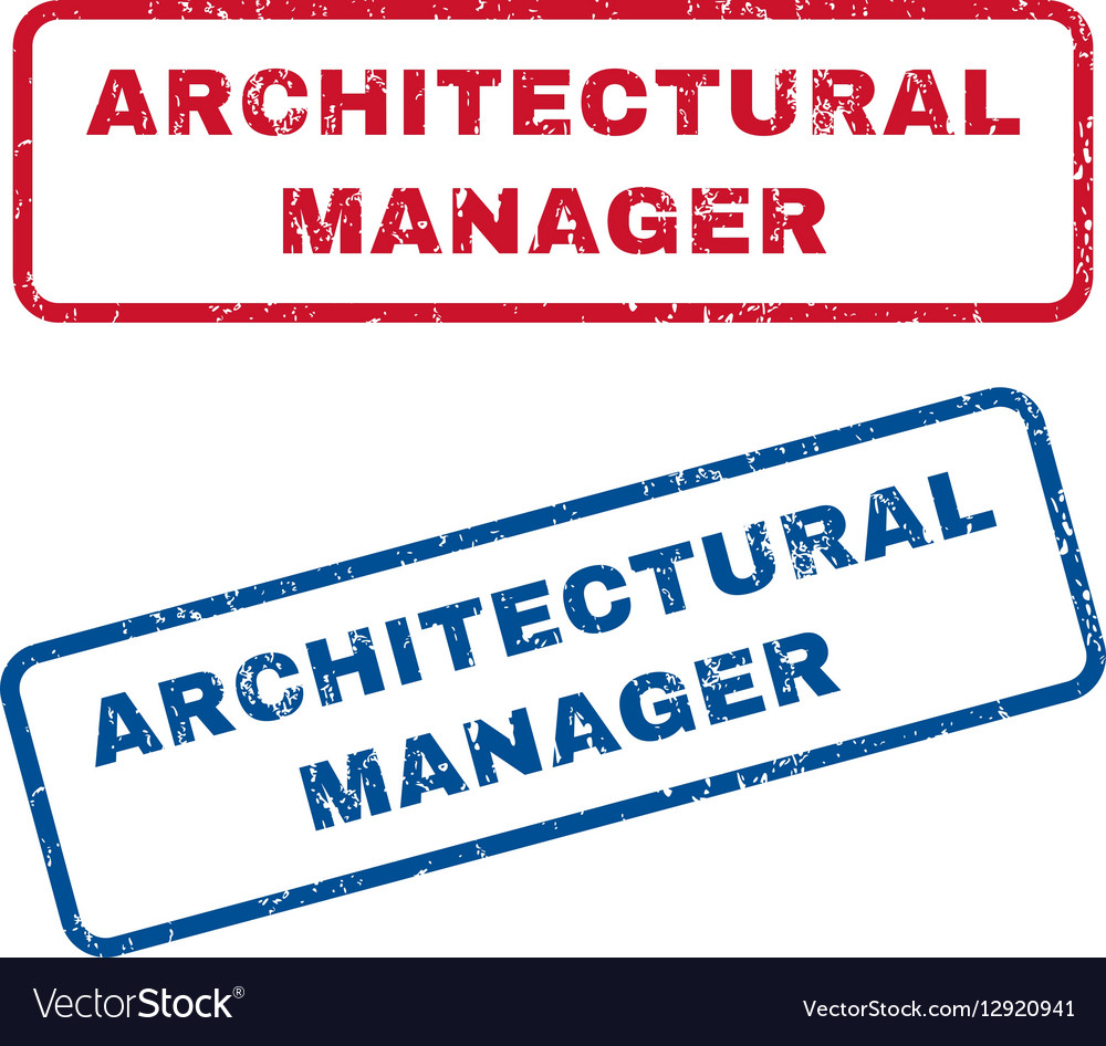 architectural manager rubber stamps royalty free vector