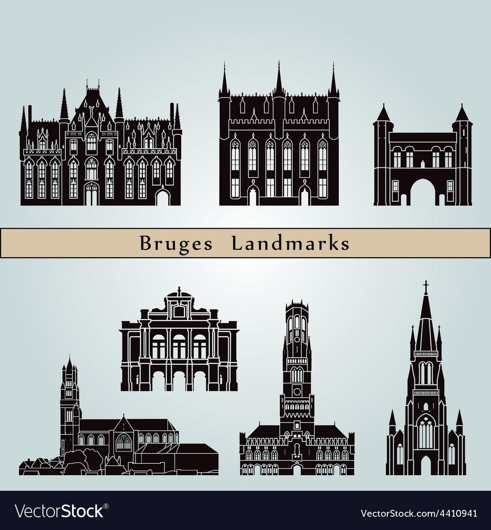 Bruges landmarks and monuments
