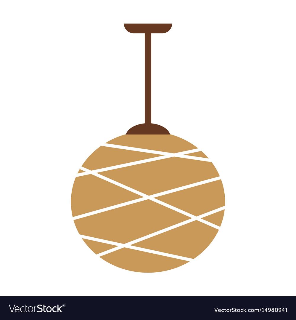 Designed beige lamp